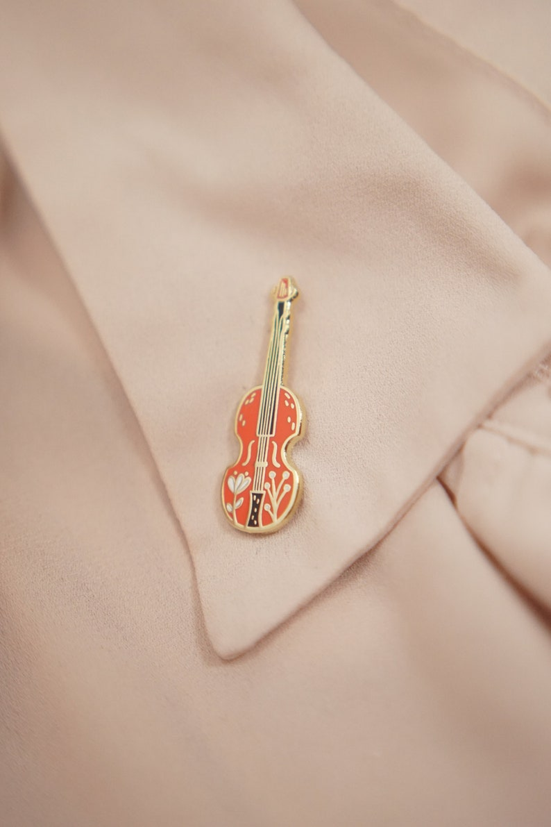 Cadeau Violon Forme Perle Vêtements Accessoires Broche Pin Bijoux lapel pin