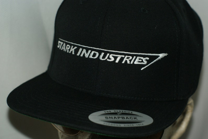 f38b484f22e30 Stark Industries Hat Iron Man Cap Tony Infinity Gauntlet