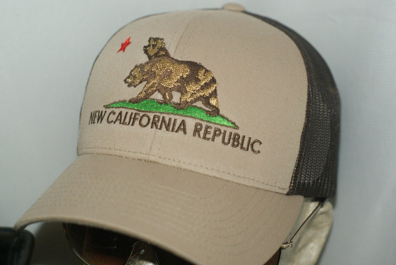 NCR Hat New California Republic Brown Tan Trucker Snapback  1bb8748bb5b