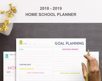 colorful student planner instant download 15 printables etsy