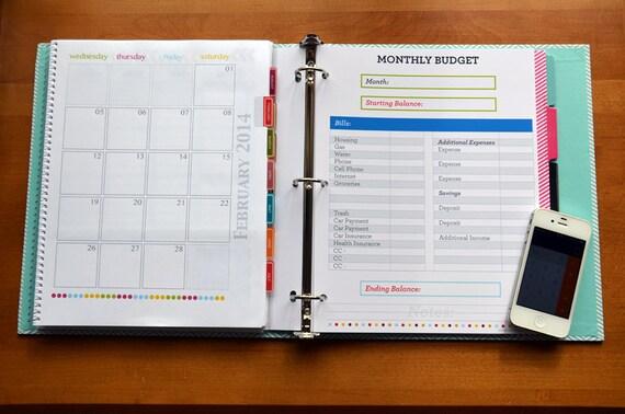 Finance Binder PDF Printable Pages INSTANT DOWNLOAD Budget ...