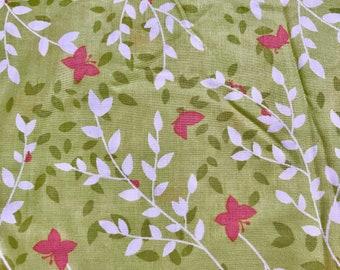 Bella Butterfly Sweet Leaves in Bloom 1 Yard Michael Miller Patty Sloniger