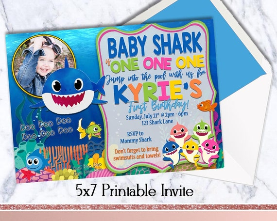 Amazon Com Baby Shark Party Decorations Doo Doo Foil Balloons Shark Birthday Banner For Baby Shower 1st Birthday Partyby Shower 1st Birthday Party Toys Games