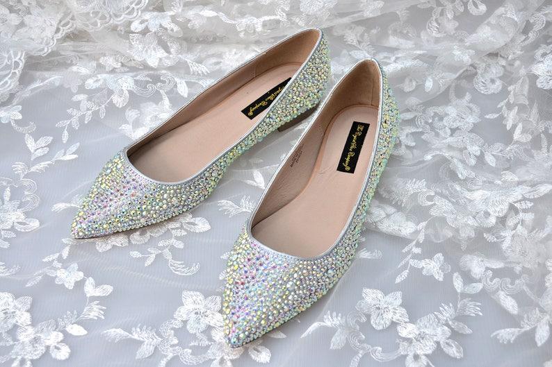221741582e5e Custom AB pointed silver swarovski crystal wedding bridal Low
