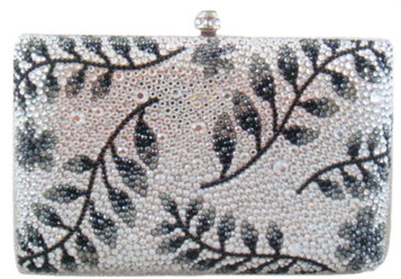 Swarovski ELEMENTS Minaudiere Hem Leave Leaf Pattern Crystal image 0