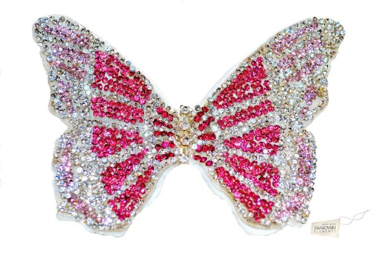 Swarovski crystal Bridesmaid Flower Girl Tulle Butterfly Blue image 0