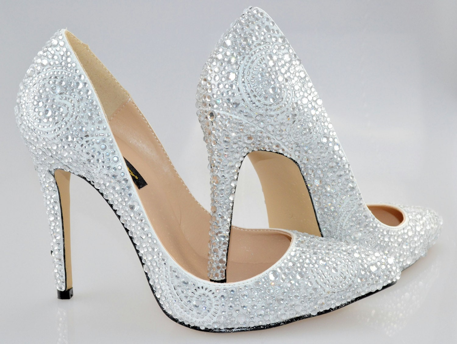 c5996464d3a Swarovski Crystal Glitter Bridal High Heel Stiletto Corset