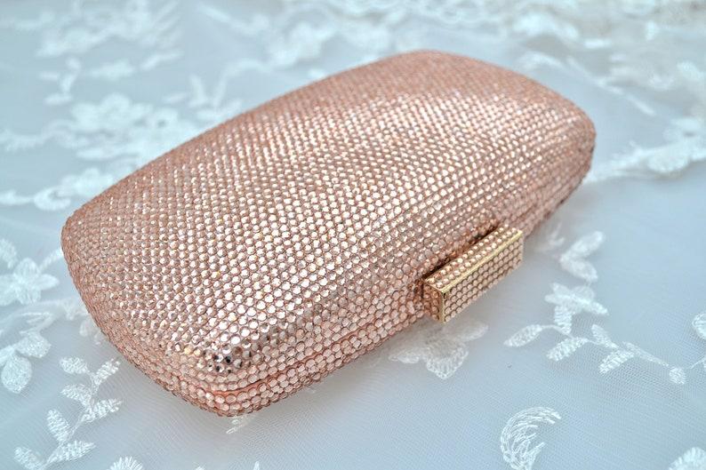 379124d53 Swarovski Peach Silk Champagne Nude rectángulo forma cuadrada | Etsy