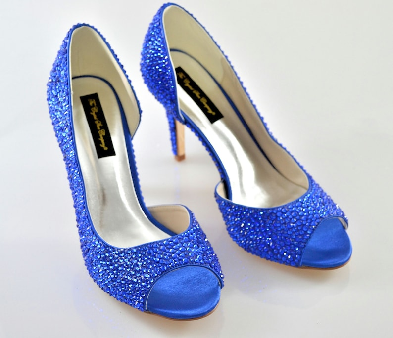 Cobalt Sapphire Navy Blue fusion Swarovski crystal wedding image 0