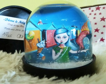 """New ! Snow Dome """"Hove Sweet Hove"""""""