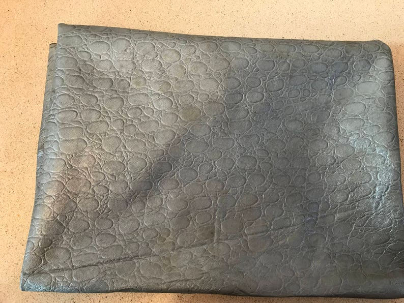 Real Leather,goat skin ,gray printed  color