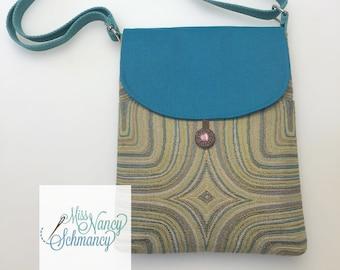 Turquoise purse, multi-color purse, fabric purse, shoulder bag, crossbody purse, crossbody bags, crossbody bags for women, crossbody