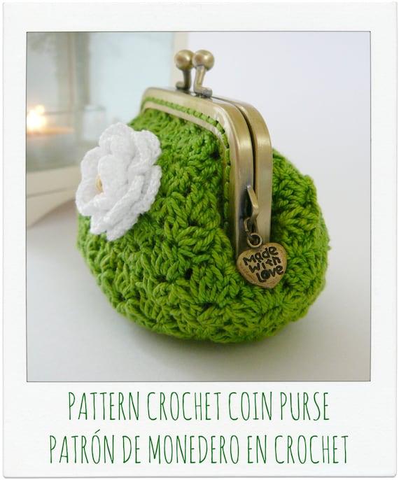 Articulos Similares A Patron De Monedero En Crochet Ganchillo - Monedero-crochet-patron