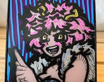 """4""""x4"""" Mina Ashido Painting"""