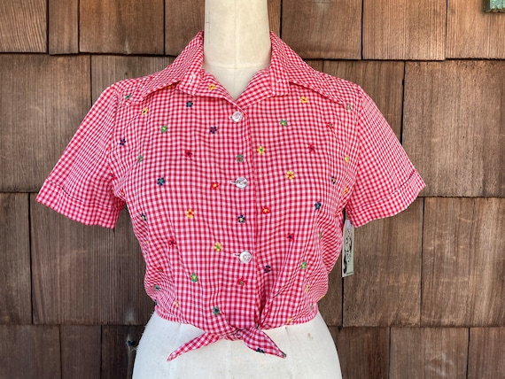 Vintage 1950's - 1960's 'Fritzi of California' Red