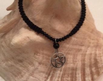 SALE 25% OFF Black cord  bracelet charm blessed be bracelet