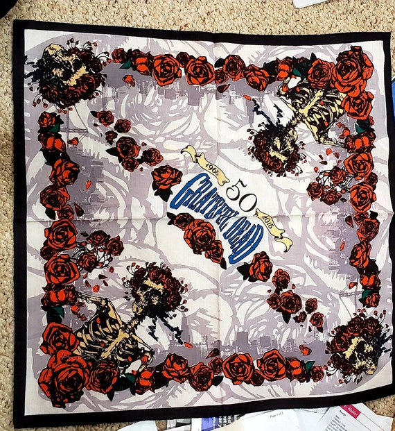 Dead and Company bandana  Official merchandise sold at 50th anniversary  show  A very hard to find item  Jerry Garcia, SYF