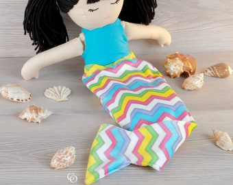 My Little Girl - Mermaid Tail, Top, Gathered and Circle Skirt Add-on (doll clothes pattern only)