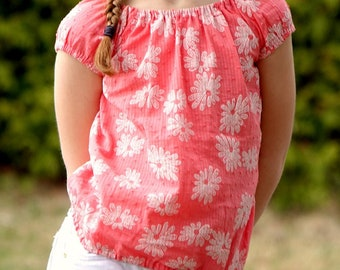 River Blouse - PDF sewing pattern for girls sizes 12m - 14 years
