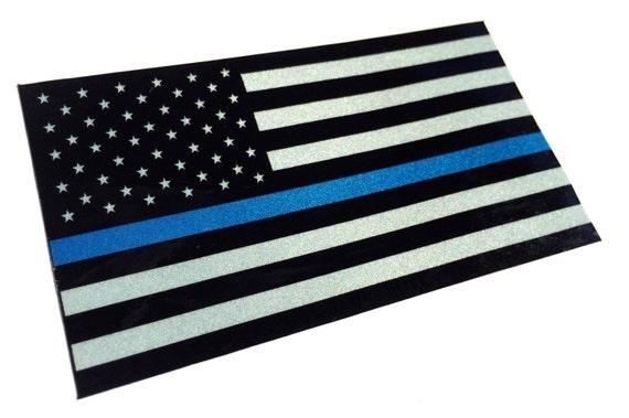"5/"" WA Washington Thin Blue Line Tattered American Flag Police Sticker"