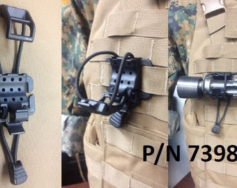 Tactical Black T Ring Webbing Adaptor For