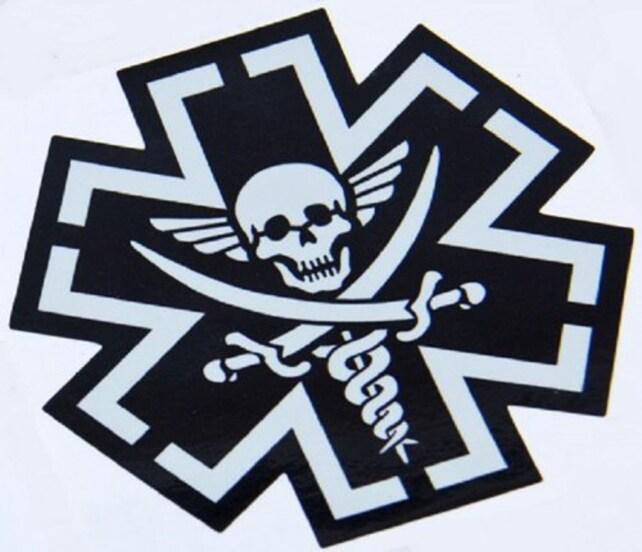 Tacmed Combat Medic Emt Skull Vinyl Decal Etsy