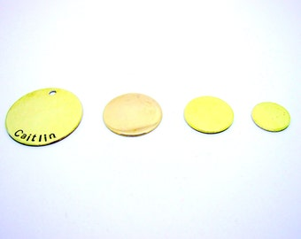 GOLD/brass Personalized Disc, You choose size