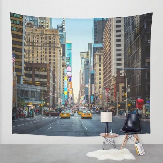 New york city wall tapestry, new york city wall decor, new york city  photography, nyc tapestries, apartment decor, dorm decor, nyc skyline