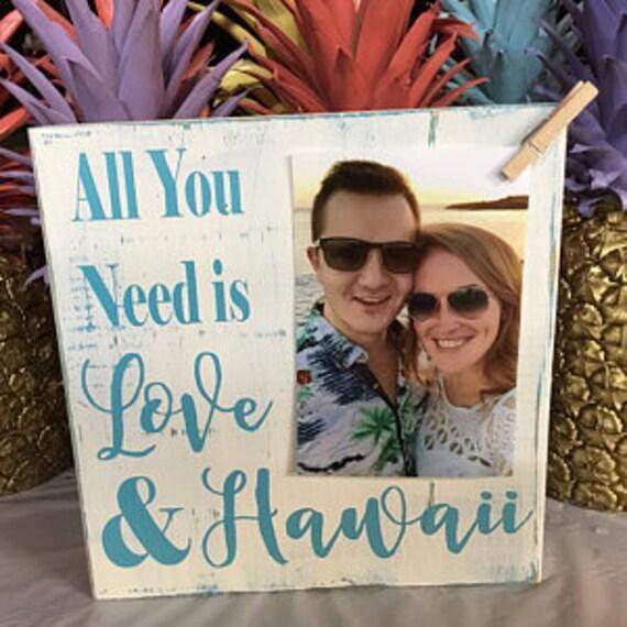 Wedding Gifts From Hawaii: Hawaii Picture Frame Wedding Bridal Shower Gift Honeymoon