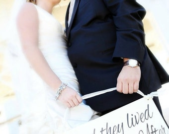 and they lived Happily Ever After   Disney Wedding Sign   Wedding Photo Shoot   Ring Bearer sign   Flower girl sign    castle inn designs