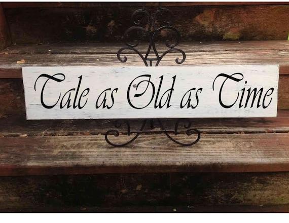Tale As Old As Time Disney Wedding Sign Wedding Decor Etsy