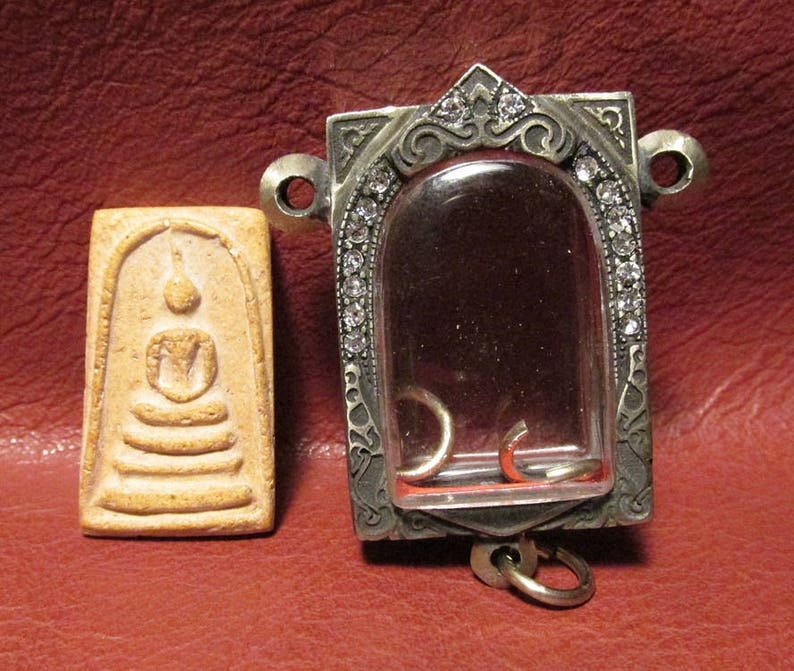 Antiques Other Asian Antiques United Huge Locket Tablet Alter Bronze Famous Monk Pra Somdaj Toh Wat Rakang Temple