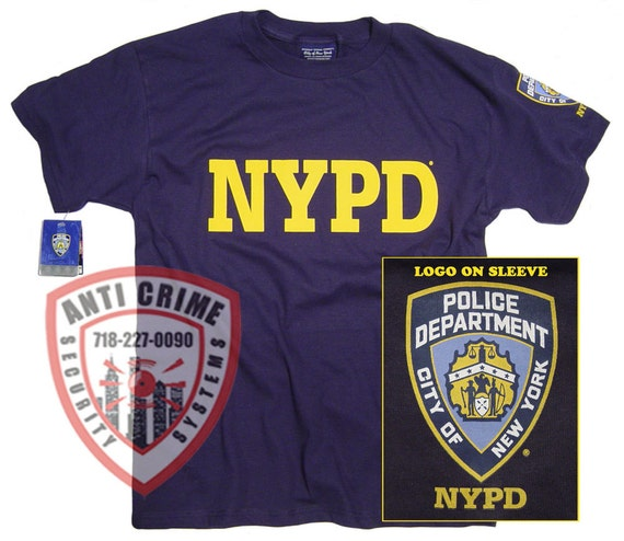 a41d1afe NYPD Shirt T-Shirt Officially Licensed Clothing Apparel by The | Etsy