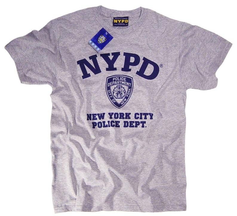 Shirt Ufficiale AbbigliamentoEtsy Nypd Con T Licenza A345jRL