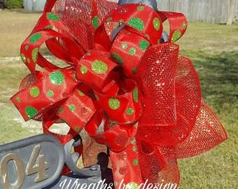 christnas decor christmas bow mailbox bow bows christmas decor christmas tree red bow