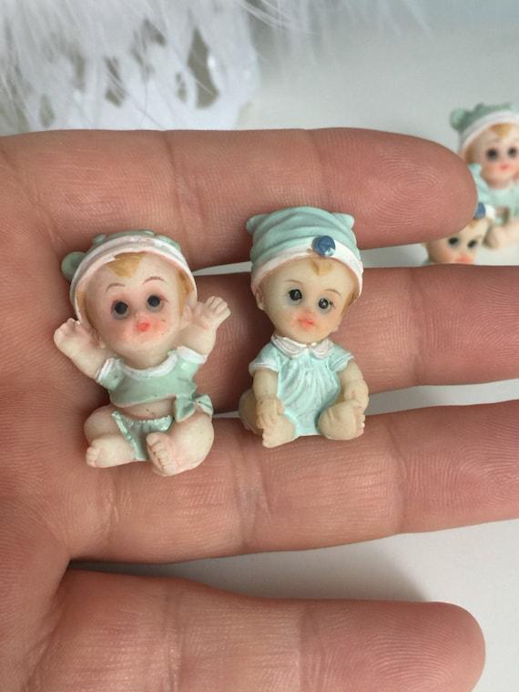 24 Miniature Figurines, Baby Shower Decor, Ministure Baby Doll, Baby Shower  Craft Doll, Baby Boy Miniature Figurine, Baby Boy Shower Favors From ...