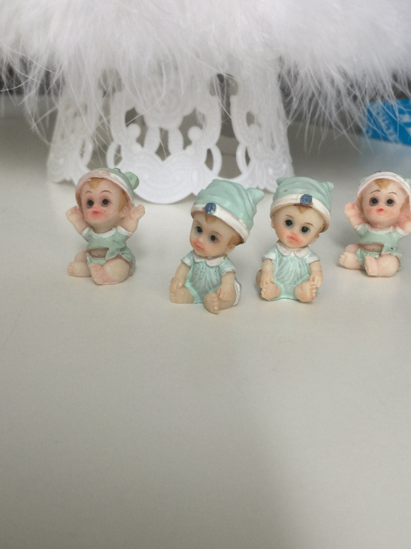 24 Miniature Figurines, Baby Shower Decor, Ministure Baby Doll, Baby Shower  Craft Doll, Baby Boy Miniature Figurine, Baby Boy Shower Favors
