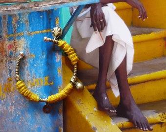 Bracelet Jonc Indien, Bijoux Ethniques Hindou, Fibres de Banane, Banjara, Créateur Français, Fujigirls