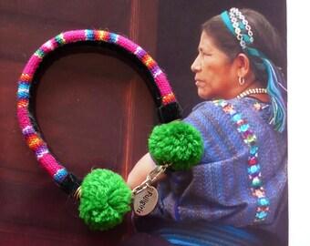 Bracelet Jonc Textile de Style Péruvien Bijoux Ethniques Perou, Folk Art, Fait-main, Tissu, Fujigirls