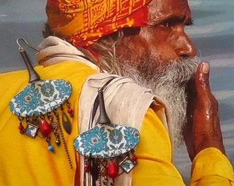 Boucles D'Oreilles de créateur,  Boucles d'oreilles Indiennes, Style Tribal Hindou, Bohème Hippie Chic - Gypsy, Boheme, Fujigirls