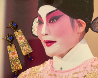 Boucles d'oreilles bohèmes asiatiques - ornements chinois - Style Japonisant - look vintage - bijoux asiatiques - Hippie Chic -  Fujigirls