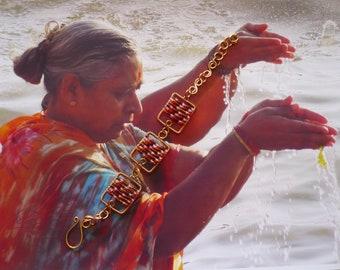 Bracelet Boheme Tissé de Perles de Rocailles, Parure en Cuivre et Miyuki, Bijou Raffiné , Créateur Français, Fujigirls