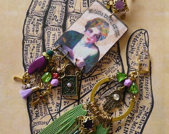 Boucles d'oreilles gitane, Diseuse de bonne aventure, Bijoux de créateur, art divinatoire, asymétrique, manouche, religion, âme, Fujigirls