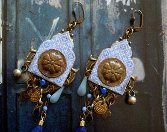 Boucles d/'oreille orientales ethnique hippie Bollywood artisanat Inde