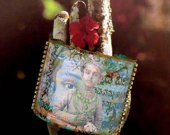 Bracelet manchette hindoue - bracelet indien - boho - bracelet esclave - maharadja - bracelet ethnique inde - bracelet ethnique - fujigirls