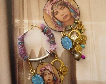 Boucles d'Oreilles Algériennes Bijoux de créateur, Créoles Orientales, bijoux femmes, Mauresque, Fujigirls