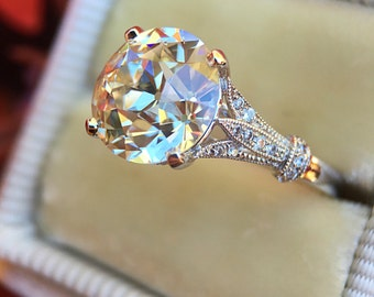 """The CvB  """"Acacia Solitaire"""" Vintage Inspired Ring Setting"""
