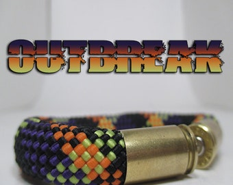 Outbreak Military and Second Amendment Right to Bear Arms Bullet Casing Support Bracelet