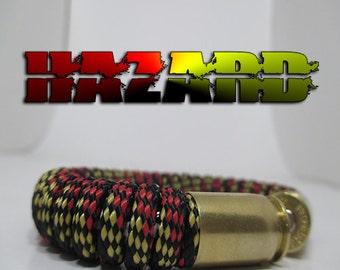 Hazard / Caution Military and Second Amendment Paracord Bullet Bracelet