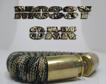Mossy Oak Military and Second Amendment Paracord Bullet Bracelet
